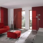 Cortinas black out en color rojo
