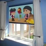 Cortina roller black out impresa con dibujos infantiles