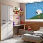 Cortina black out infantil con motivos para dormir