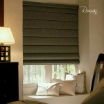 Cortinas romanas black out con pliegues