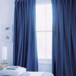 Cortinas black out de riel azules