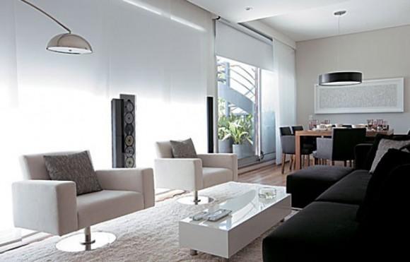 Cortinas black out en el living cortinas black out for Casa minimalista living