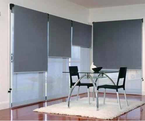 Cortinas black out con sistema doble sunscreen cortinas for Doble cortina para salon
