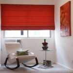 Cortinas romanas black out color rojo