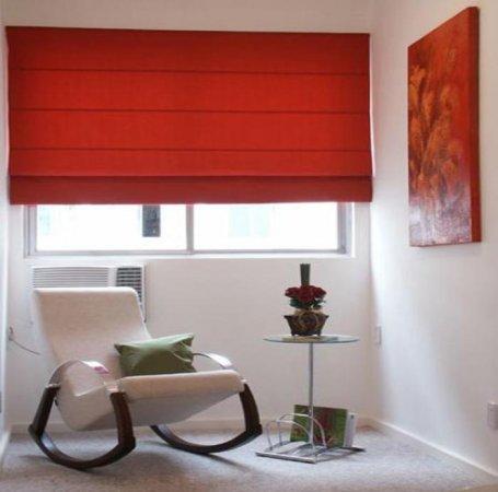Cortinas romanas black out color rojocortinas black out - Sistemas para cortinas ...