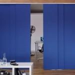 Paneles black out azul para dividir ambientes