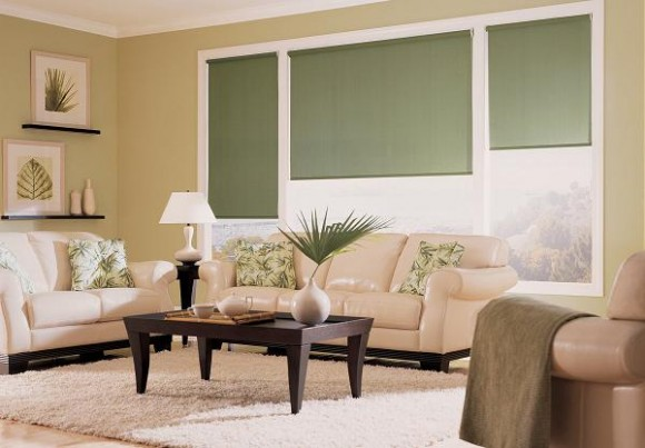 Cortinas black out en el living cortinas black out for Living room with blinds